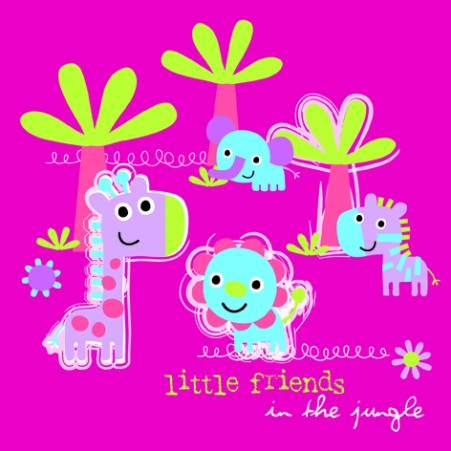 Lunchservet Jungle Little Friends pink