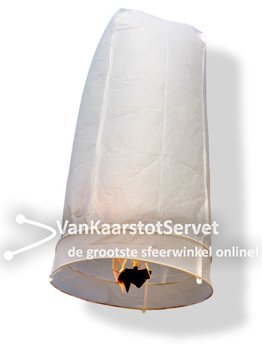 Wensballon 100-50 wit